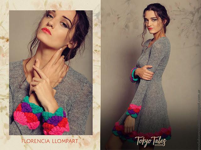 Ropa de moda invierno 2016 vestidos tejidos. Florencia Llompart otoño invierno 2016.
