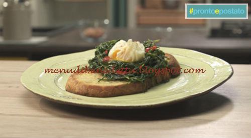 Pronto e postato - Nidi di agretti con uova pochette ricetta Benedetta Parodi