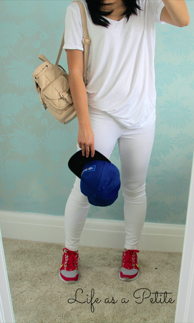 White on White Casual Chic Outfit IDea