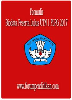 Biodata Peserta Lulus UTN 1 PLPG 2017