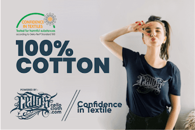 "Bahan Kaos Combed 100% Cotton Berlabel "" Confidence in Textile"""
