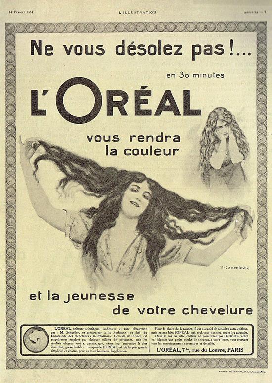 L'Oréal ad 1914