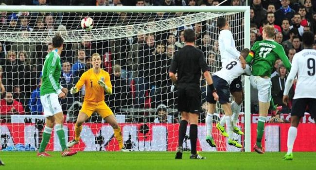 cuplikan gol Inggris vs Jerman 0-1