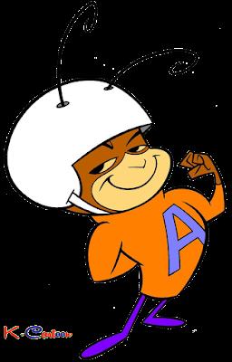 gambar vektor atom ant cartun