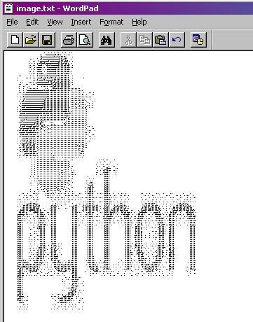 Play Python: Generate ascii image of yours ?
