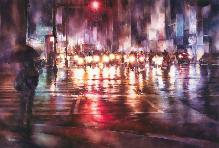 Акварельная живопись. Lin Ching Che 9