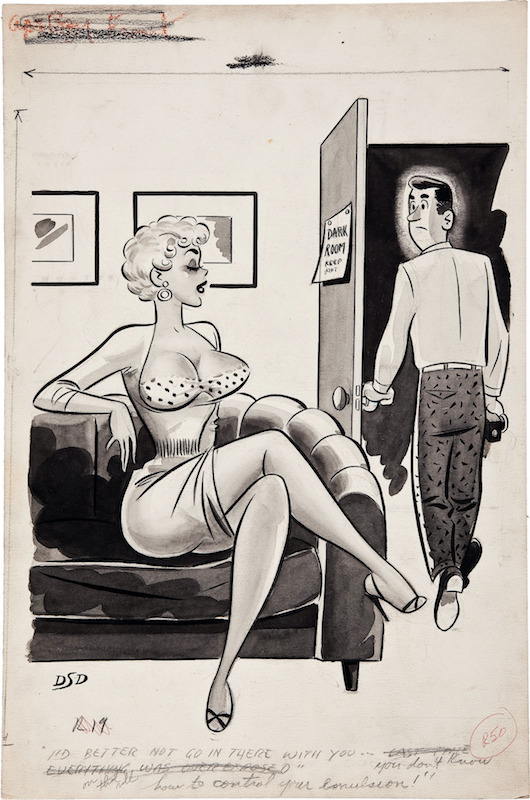 good girl cartoons by Dan Decarlo from Humorama, circa 1950s.