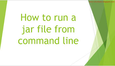Run class in Jar file - How to run a jar file from command line