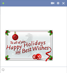 Happy Holidays Sticker for Facebook