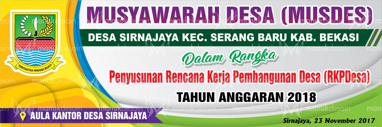 Contoh Desain Banner musyawarah Desa ~ Contoh Desain ...
