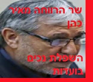 שר הרווחה מאיר כהן - מדיניות השפלת נכים בועדות רפואיות