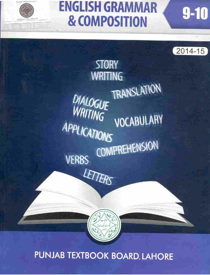 9th and 10th class English Grammar & composition textbook pdf free