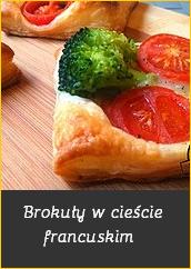 Brokuły w cieście francuskim