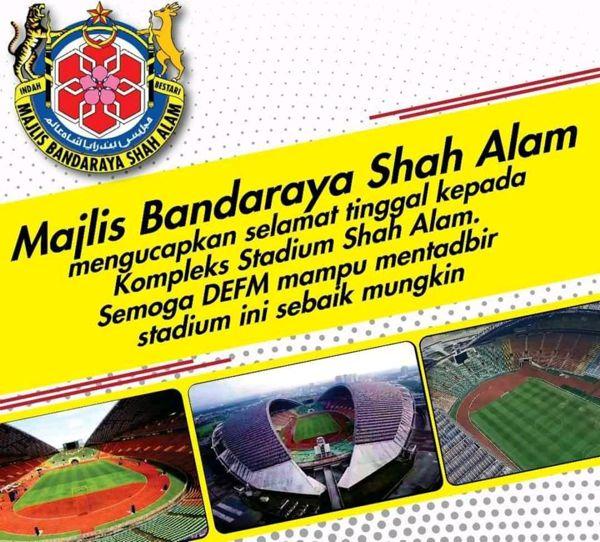 MBSA ucap selamat tinggal kepada Stadium Shah Alam, kini jadi milik syarikat swasta