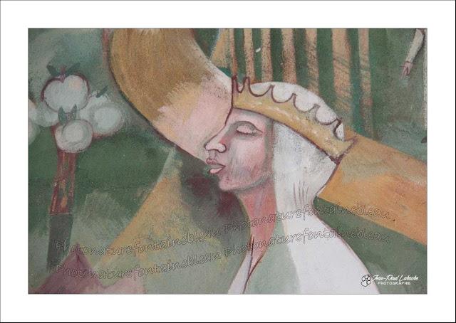 sainte radegonde coiffée de sa couronne