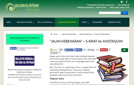 Laman Web Isa Al Fatihah Mengelirukan