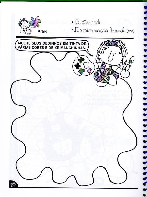 Atividades Para Maternal Pinte Com Os Dedinhos Colorir