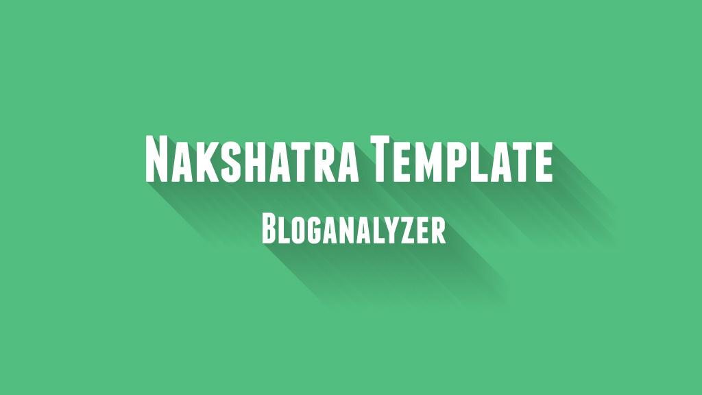 Nakshatra Template