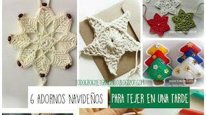 6 adornos navideños para tejer en una tarde