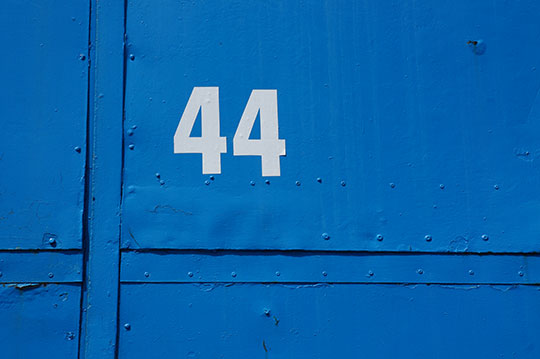 urban photography, urban photo, number 44, blue, contemporary, photo, modern, Sam Freek,