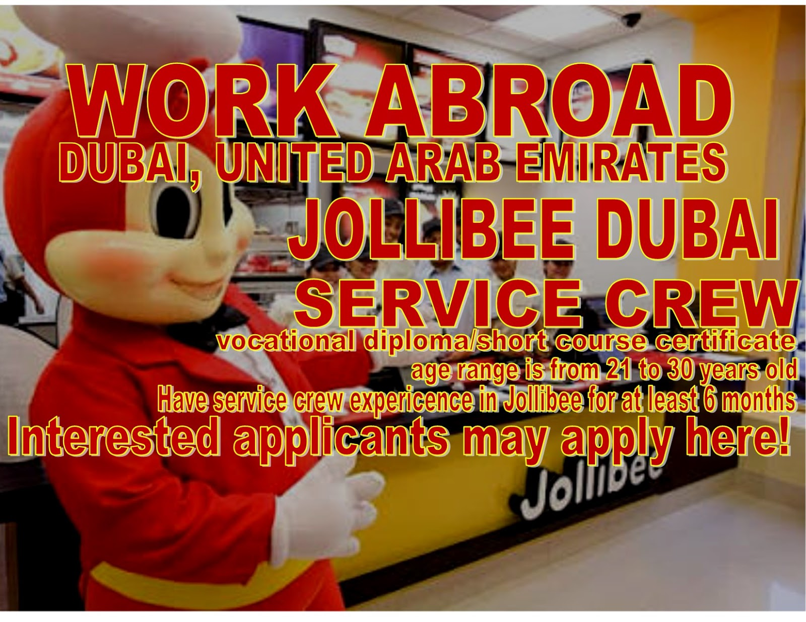 jollibee foods Looking for a great paid internship at honeybee foods corporation dba jollibee in anaheim, ca learn more about the store crew (jollibee - anaheim.