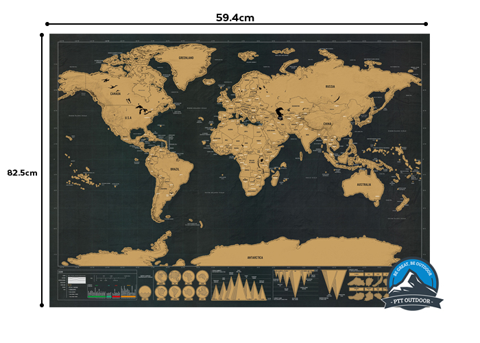 DELUXE SCRATCH WORLD MAP PTT OUTDOOR