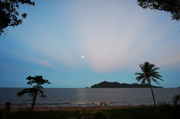 Windjana Beach House view of Dunk Island at sunset, Mission Beach, Australia, travel, Euriental