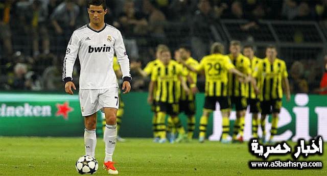 انتهت اهداف مباراة ريال مدريد ودورتموند أمس في دوري أبطال أوروبا بفوز ريال مدريد بثلاثة أهداف مقابل هدفين