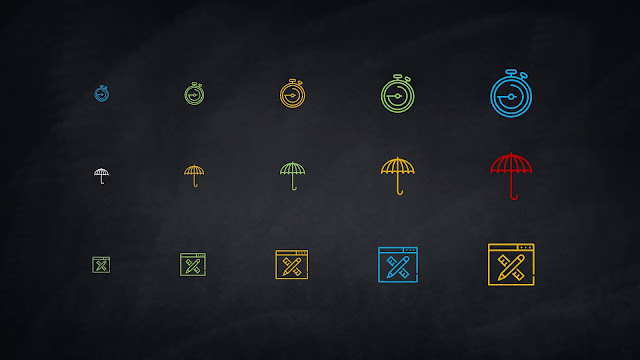Free 64 Multi Purpose Linear Colored Business Icons for PowerPoint Slide 3