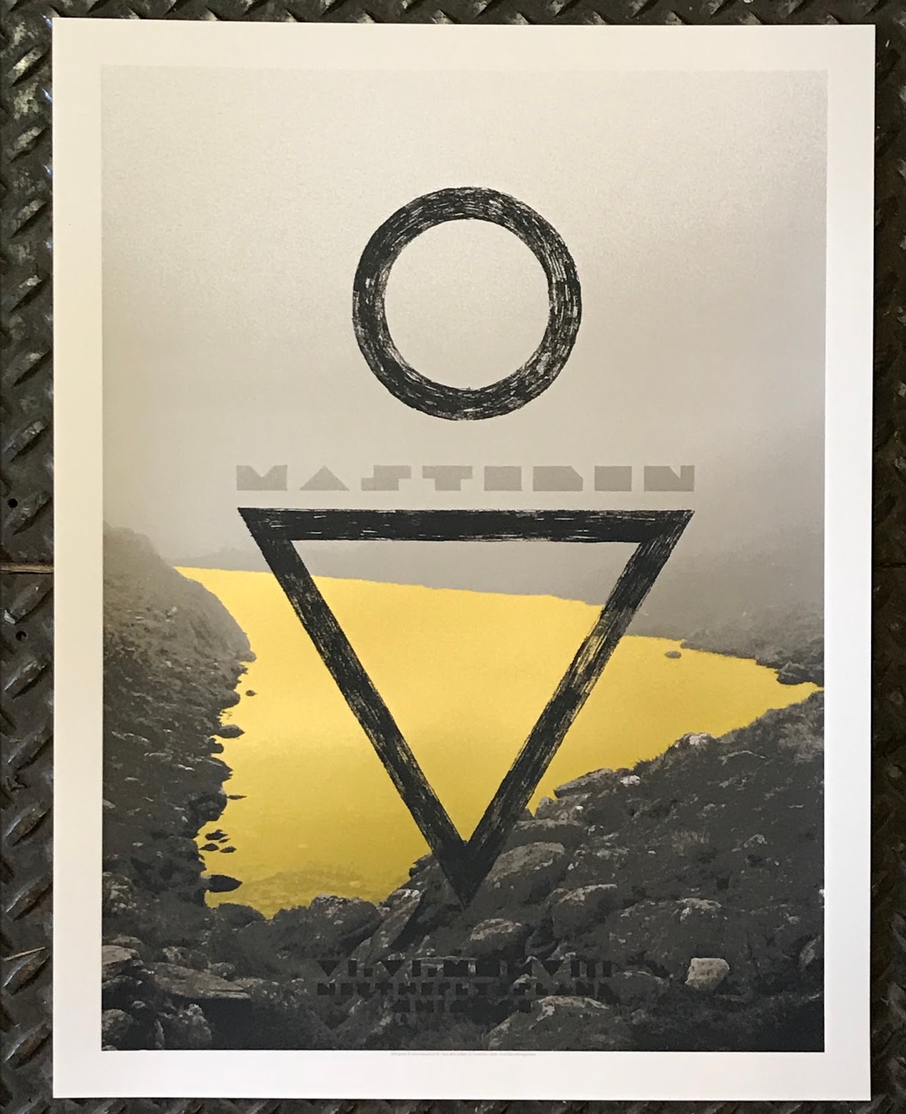 INSIDE THE ROCK POSTER FRAME BLOG: Crosshair Poster for Mastodon