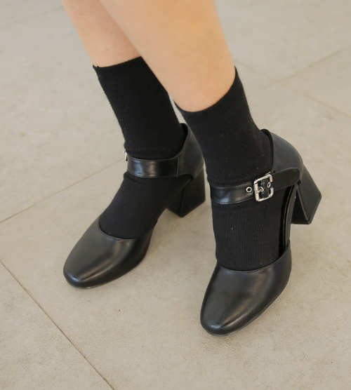 Buckled Ankle Strap Mary Jane Shoes