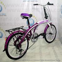 Sepeda Lipat Regazza Platinum 6 Speed 20 Inci