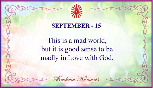 Thought For The Day September 15