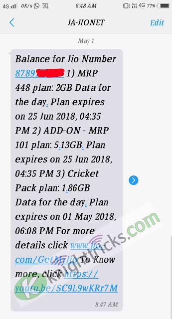 Jio ipl pack free