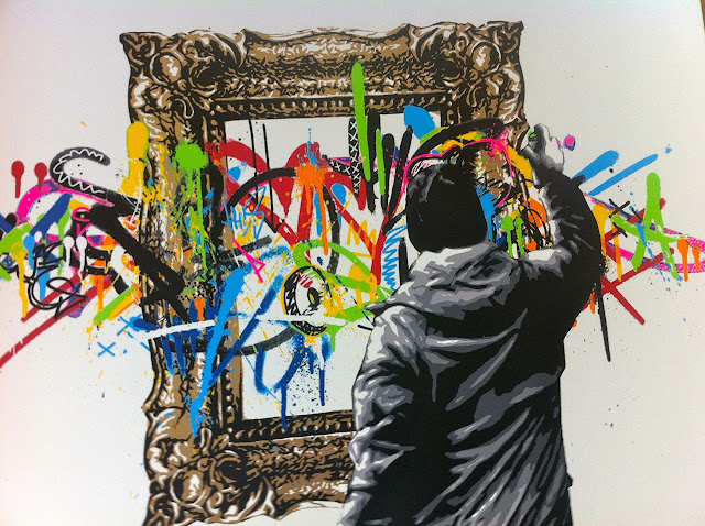 """Framed"" New Limited Edition Screen Print By Norwegian Street Artist Martin Whatson. 2"