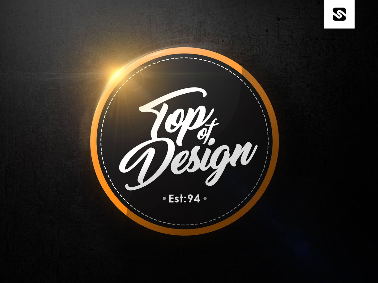 Free Download Modern Badge Logo Design Template PSD File - Free modern logo templates