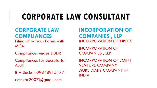 Incorporation of foreign  joint ventures in India R V Seckar 09848915177 rvsekar2007@gmail.com