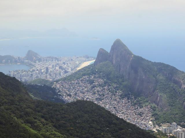 View from Pedra Bonita in Tijuca National Forest in Rio de Janeiro Brazil