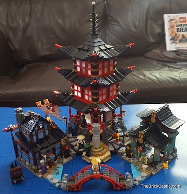 LEGO Ninjago Temple Of Airjitzu set 70751 full model size