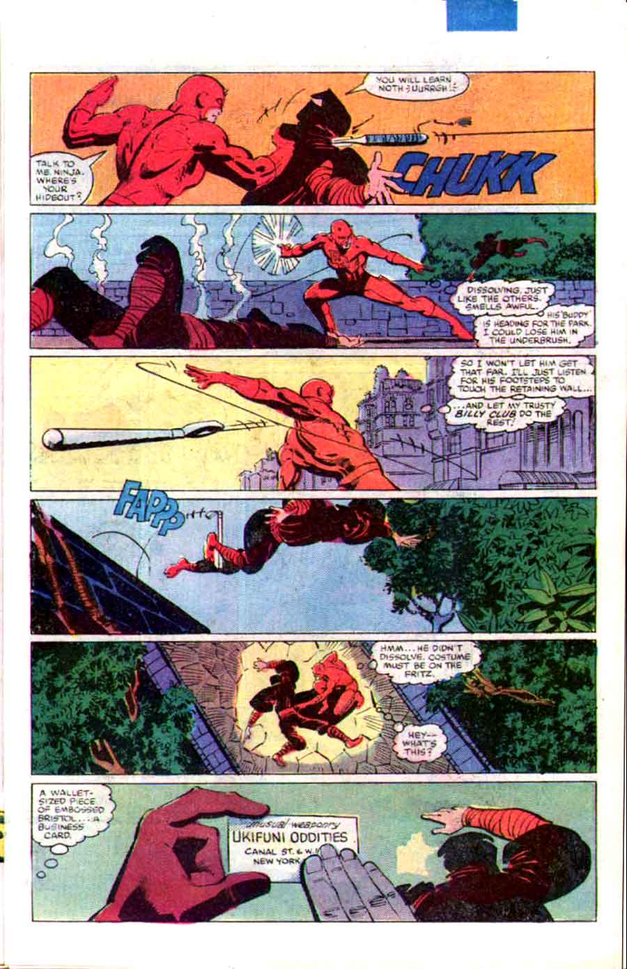 Daredevil v1 #175 marvel comic book page art by Frank Miller