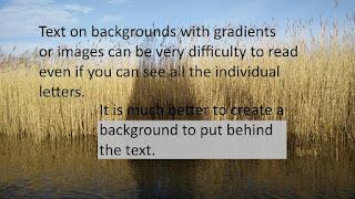 Imagen de fondo y texto sin contraste
