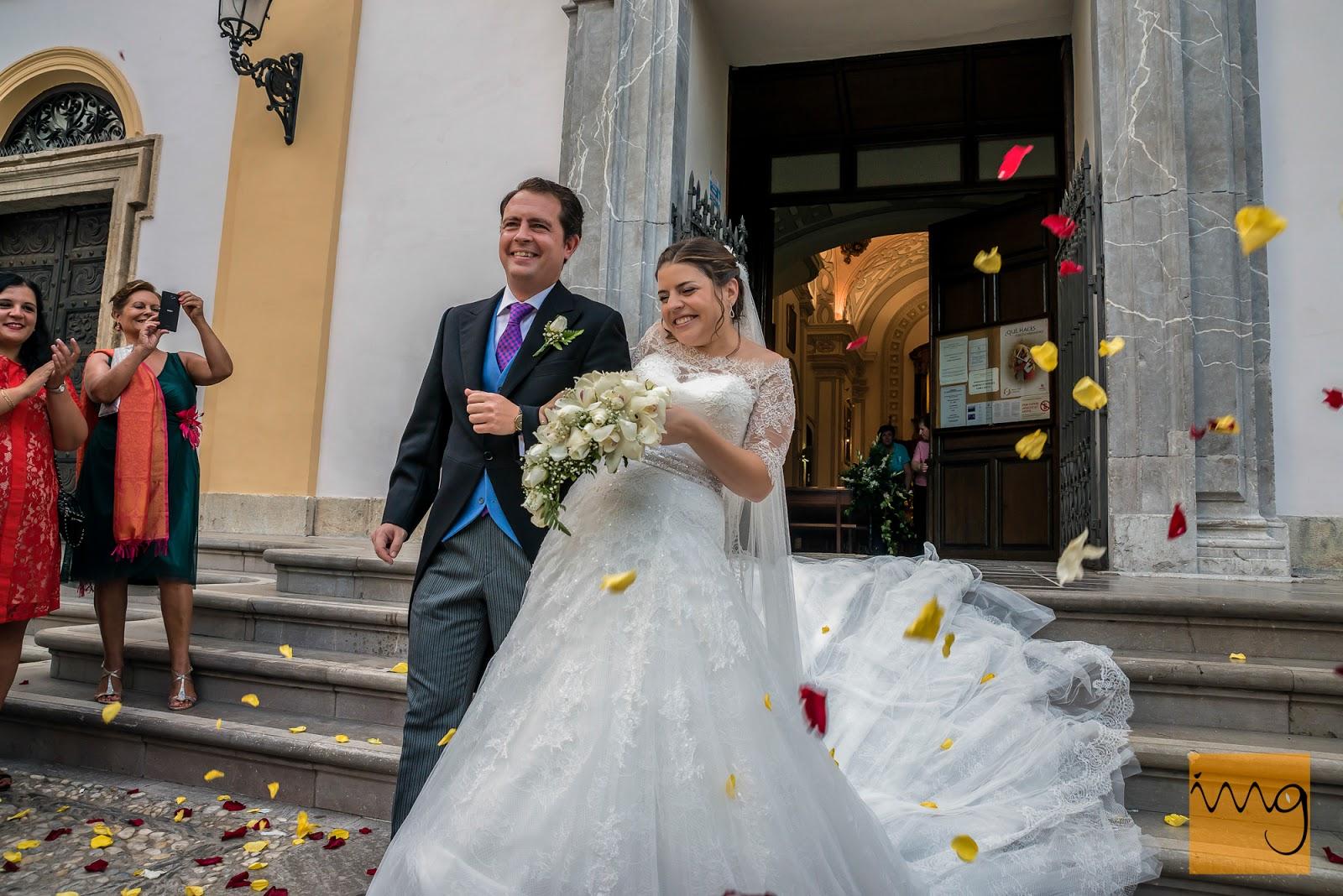 Fotografía de boda, confeti