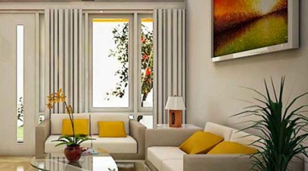 Gambar ruang tamu dengan desain yang elegan