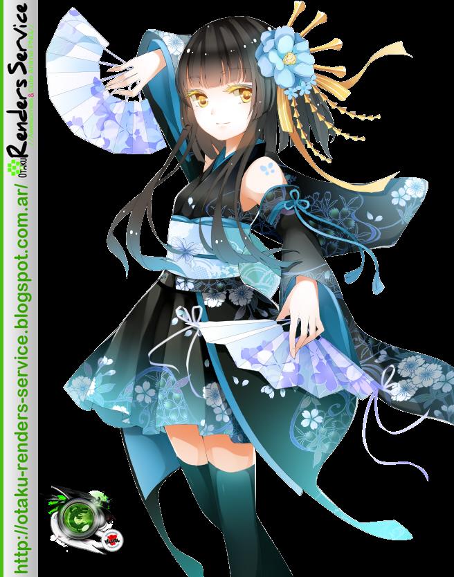 dancing kimono girl 4 versions render ors anime renders. Black Bedroom Furniture Sets. Home Design Ideas