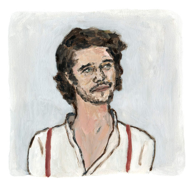 Ben Whishaw Portrait Illustration Oil painting by Nozomi Koh ベン・ウィショー イラスト