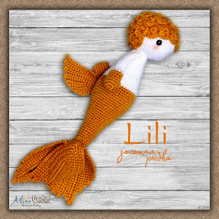 амигуруми кукла Bebeklikedi Золотая рыбка Lili