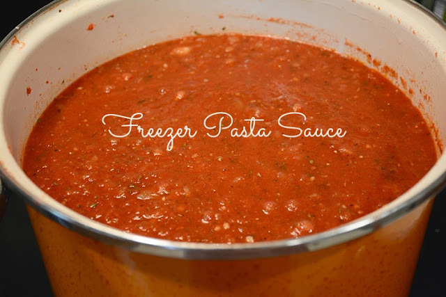 Make: Freezer Pasta Sauce | My Darling Days