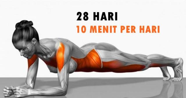 7 Olahraga yang sederhana ini bisa ubah bentuk tubuh hanya dalam 4 minggu, Lakukan dengan rutin dan lihat hasilnya