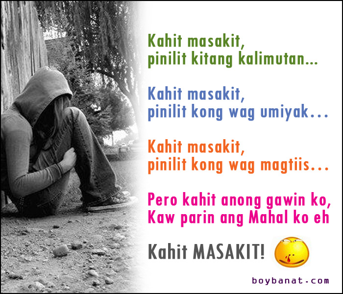 Pinoy Sad Love Quotes and Sad Love Messages ~ Boy Banat