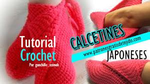 Nuevo Modelo de Calcetines con diseño Japonés / Tutorial en español